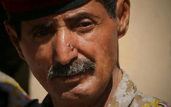 Commander of the 81rd Infantry, Sarwah Front, Brigadier General Mohammed Al-Jaradi Our goal retakes the capital and the State.
