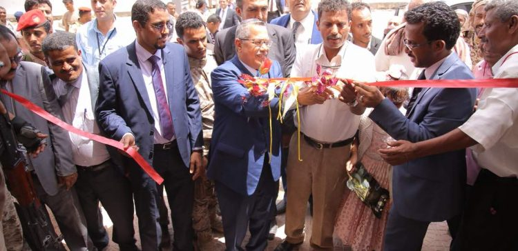 PM lays foundation stone for projects in Abyan