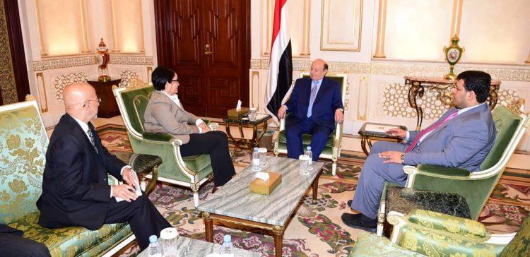 President Hadi praises US support for Yemen