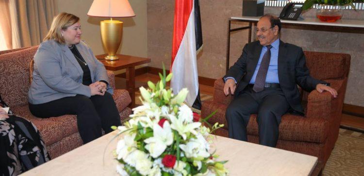 VP meets with EU ambassador to Yemen