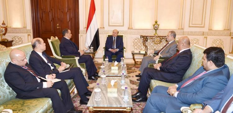 President Hadi appreciates Ould Sheikh's good offices