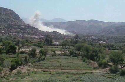 Houthi militias blow up civilian houses in Taiz city