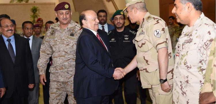 President Hadi visits headquarter of Joint Forces Command in Saudi Defense Ministry