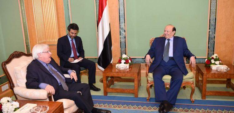Hadi receives UN special envoy for Yemen