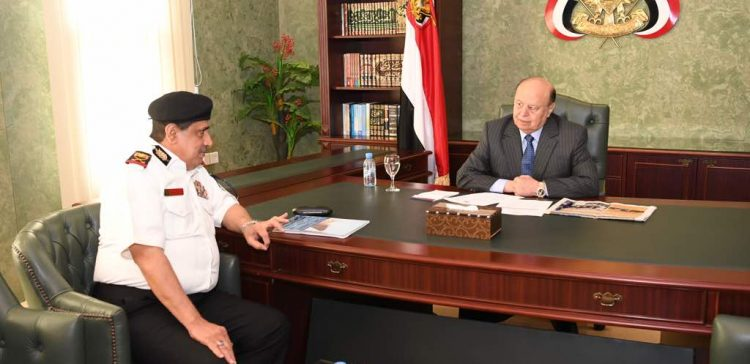President Hadi highlights fighting readiness of military forces, opening fronts in Dhamar