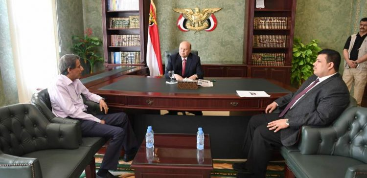 President receives minister al-Ashwal after departing Sana'a