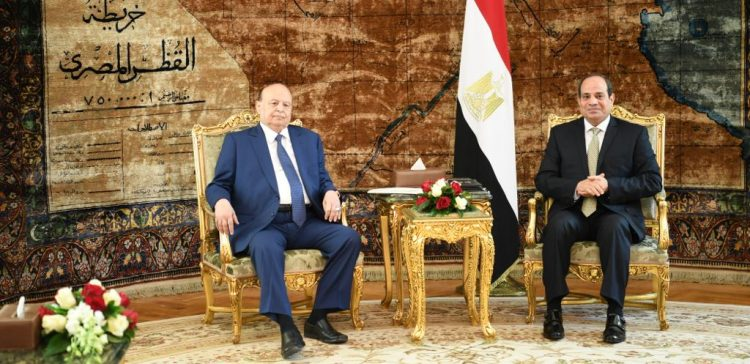 President Hadi holds talks with El-Sisi of Egypt