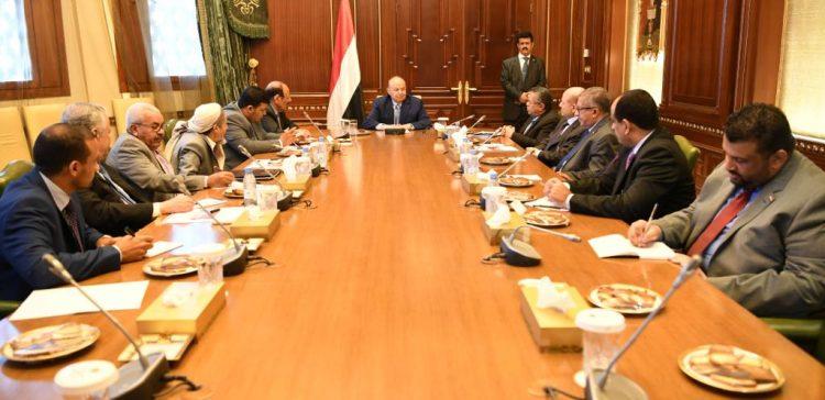 Pres. Hadi meets his advisory board