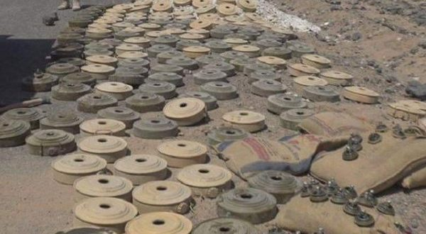 Army experts removed large quantities of mines in al-hodaidah