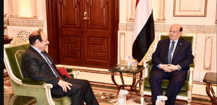 "President Hadi,"" Lt Gent "" Mohssen discuss developments about combat operations"