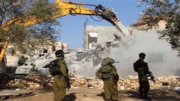 Israel demolished 538 homes, facilities in West Bank in 2018