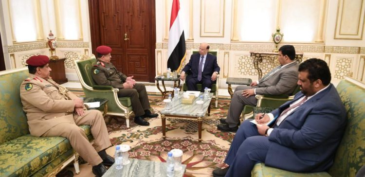 President Hadi urges unifying efforts, capacities of Defense Ministry