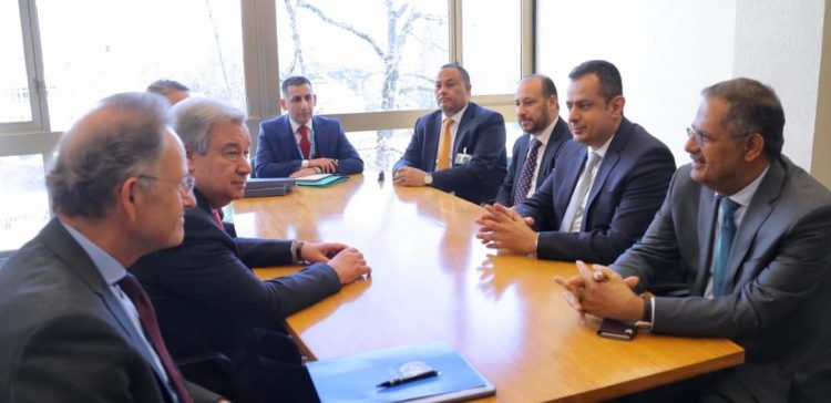 Failing to name Houthis peace hinderers emboldens their crimes, PM tells UN chief