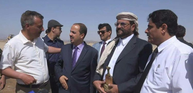 Info. Minister, Marib governor follow up on infrastructure development
