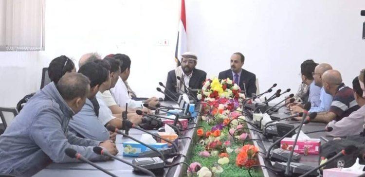 Info. Minister, Marib governor consider setting up media complex