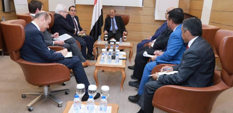 Vice President meets with UN Secretary General Envoy to Yemen