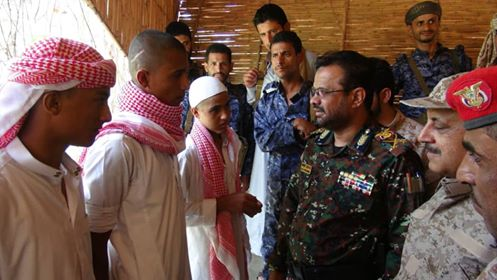 Marib Human Right Office receives 7 Houthi ex-child soldiers