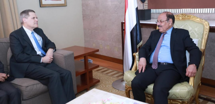 Vice President meets with American Ambassador to Yemen