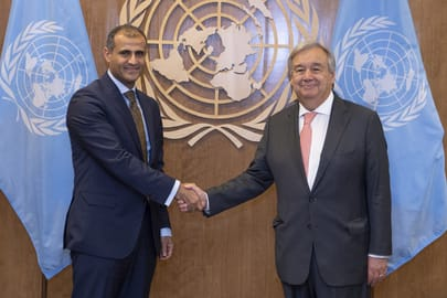 FM raises rebellion issues in north and south Yemen with UN Chief