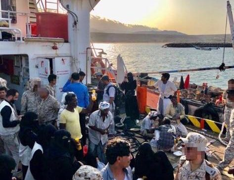 Arab Coalition rescues 65 people after finding missing vessel