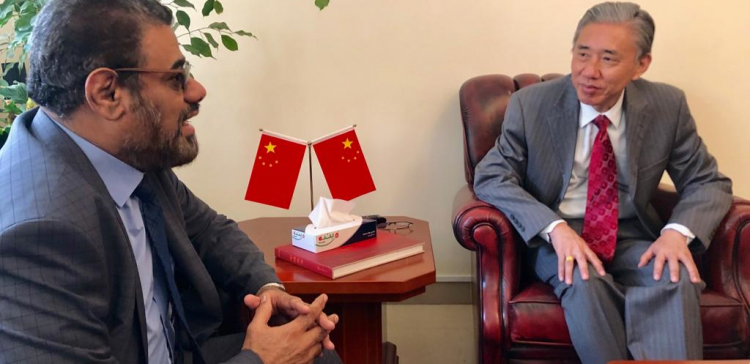 Dep. speaker of parliament meets with Chinese ambassador