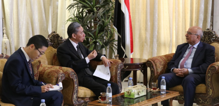 Minister Fatah meets with Chinese Ambassador to Yemen