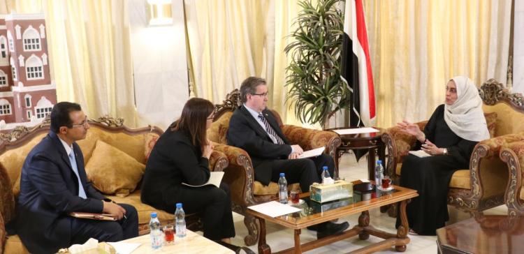Al-Kamal, Norway Ambassador discuss woman development projects