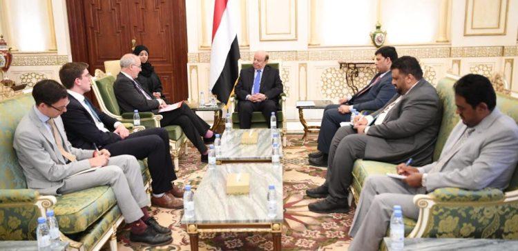 President Hadi praises British role in supporting Yemen