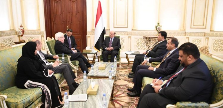 President Hadi receives UN's envoy to Yemen