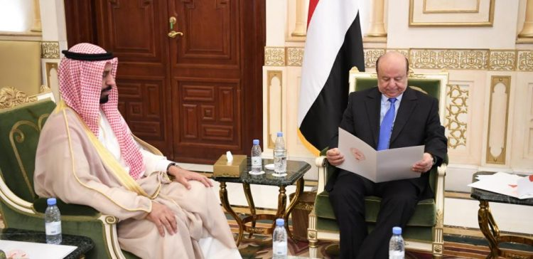 President Hadi receives a letter from Amir of Kuwait State