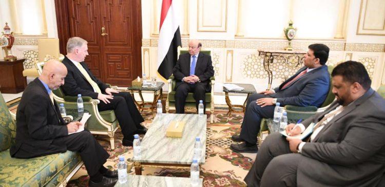President receives US ambassador to Yemen
