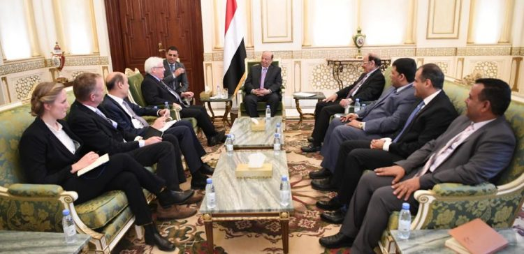 President Hadi appreciates efforts of UN envoy aimed at bringing peace