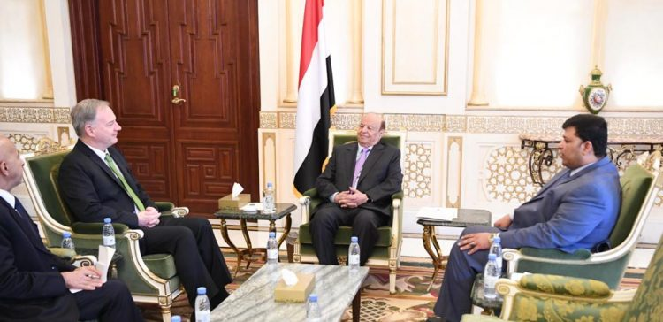President Hadi receives US ambassador to Yemen