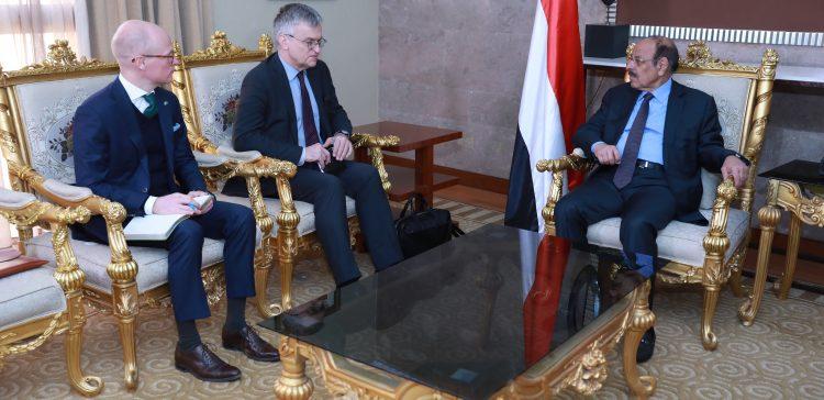 Yemen Vice President receives Swede's Special Envoy to Yemen