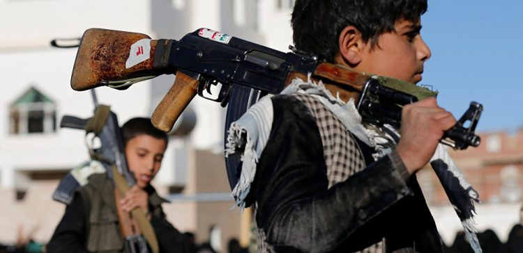 Houthi militia.. Recruiting children outside international norms and laws